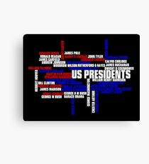 US Presidents Typography Canvas Print