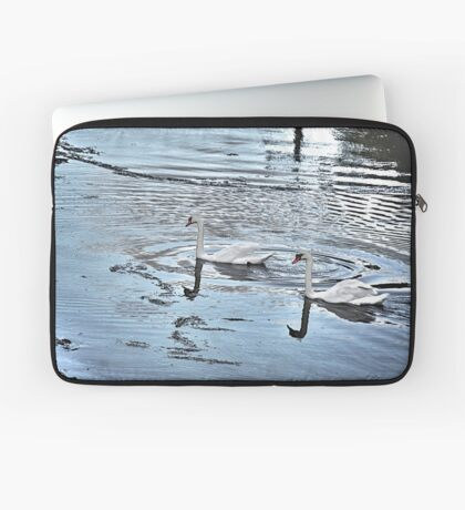 Swan Tranquility !  (interesting info in description) Laptop Sleeve