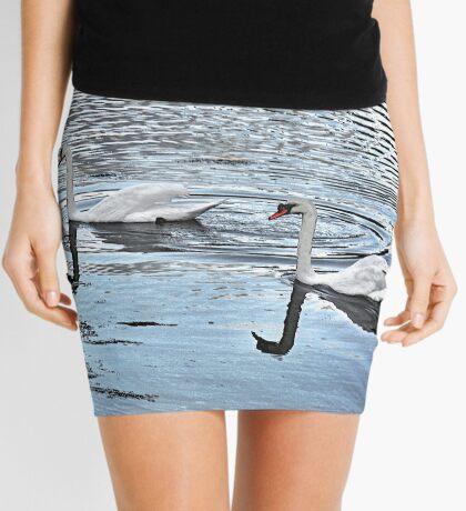 Swan Tranquility !  (interesting info in description) Mini Skirt