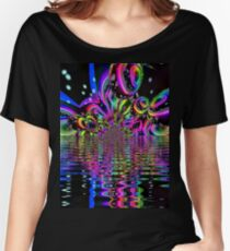 Amethyst Sunburst Bubble Galaxy  Women's Relaxed Fit T-Shirt