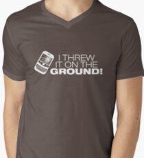 I Threw It on the GROUND! (White Version) Men's V-Neck T-Shirt