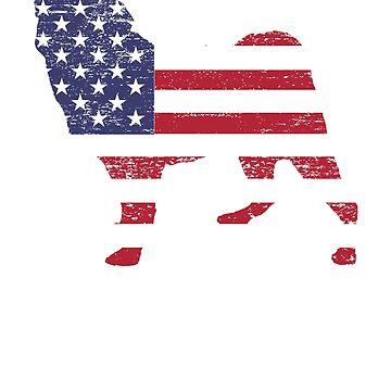 American Pug USA Flag TShirt for Pug Lovers by breidbe