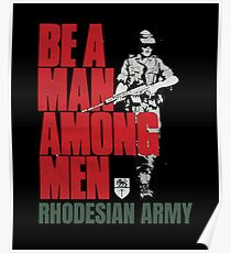 Vintage Rhodesian Army Recruiting Poster  Poster