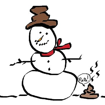 Daddy snowman with poop by Bubucine