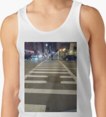 Building, Skyscraper, New York, Manhattan, Street, Pedestrians, Cars, Towers Tank Top