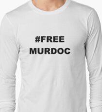 #FREE MURDOC: JAMIE HEWLETT MURDOC, GORILLAZ Long Sleeve T-Shirt