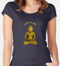 Buddha - Let it go Women's Fitted Scoop T-Shirt
