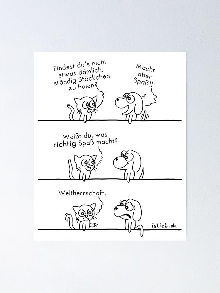 Alternative Ansicht von Spass - islieb-Comic Poster
