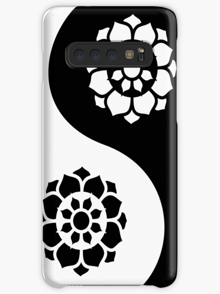 Lotus Flower Yin Yang Cases Skins For Samsung Galaxy By Zaknafien