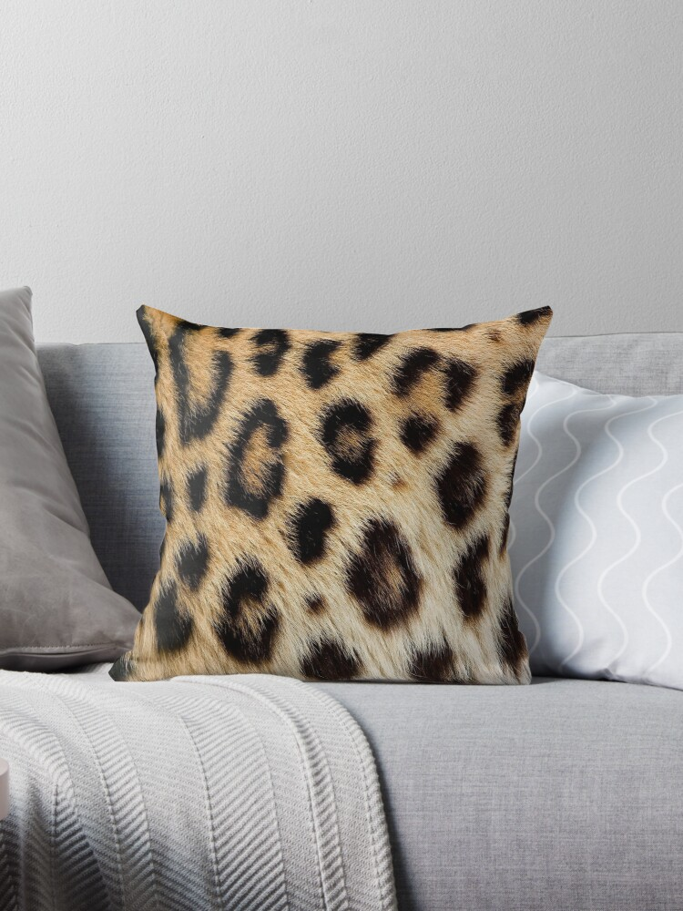 Leopard Print Animal Skin Fur Pattern Throw Pillow By Angelinas Redbubble