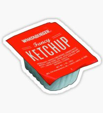 Whataburger Fancy Ketchup Sticker