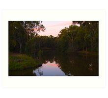 Sunset @ Dights Falls Art Print
