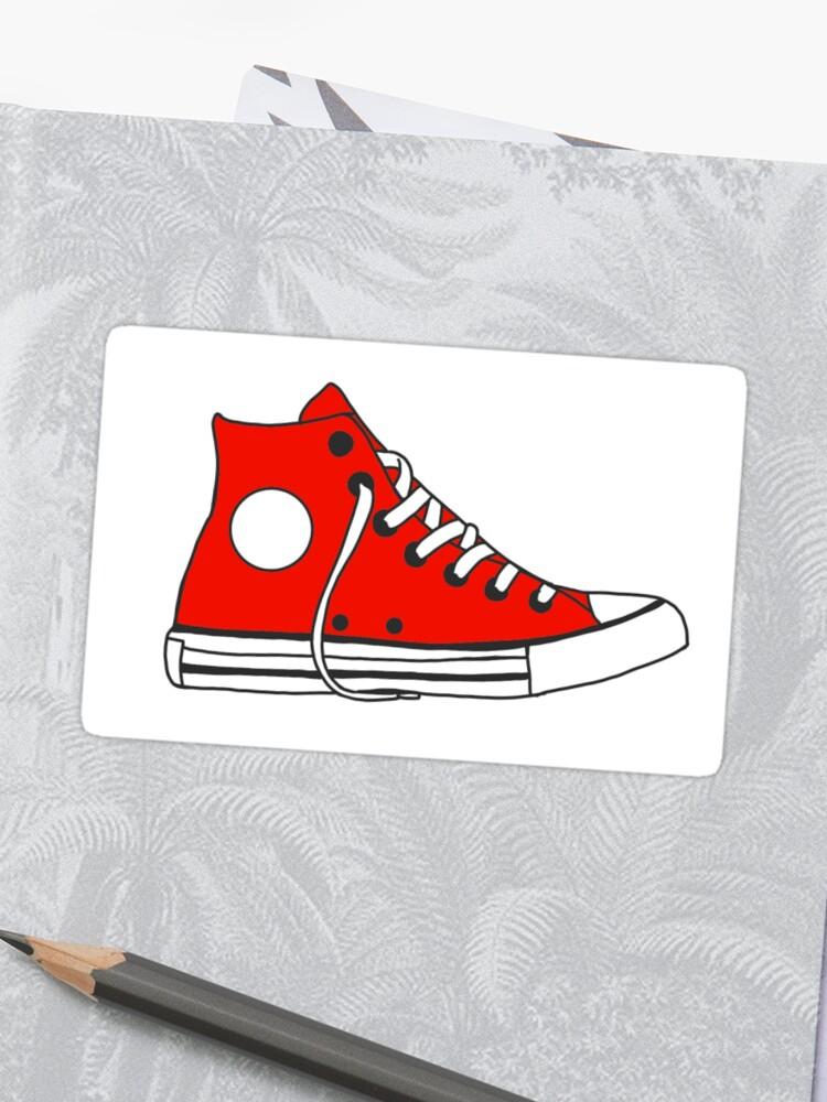 Red converse   Sticker
