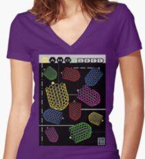 """Sheldon Wears Nanotubes"" © Tailliertes T-Shirt mit V-Ausschnitt"
