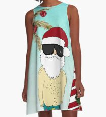 Warm Holiday Wishes A-Line Dress