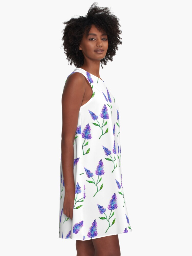 Alternate view of Lilacs in Bloom A-Line Dress
