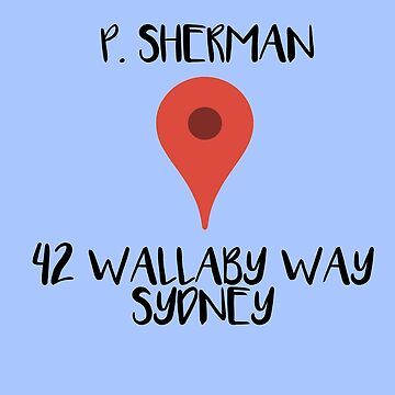 P. Sherman 42 Wallaby Way, Sydney by normanlikescats
