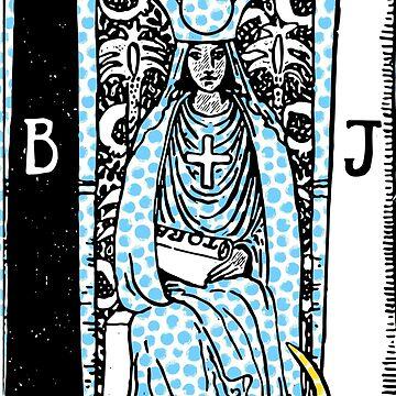 Modern Tarot - 2 The High Priestess by annaleebeer