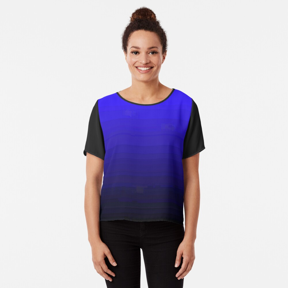 "Model Me VIP ""Blue Moon"" Collection Women's Chiffon Top Front"
