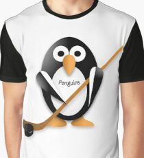 Penguin with hockey stick Graphic T-Shirt