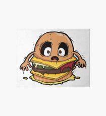 scared burger Art Board Print