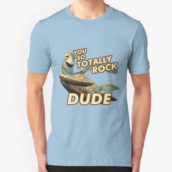 Crush from Finding Nemo Slim Fit T-Shirt