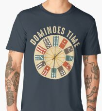 Funny Dominoes Shirt Vintage Retro Clock Graphic Men's Premium T-Shirt