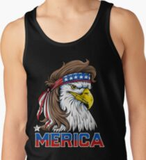 Eagle Mullet T Shirt 4th of July American Flag Merica USA Tank Top