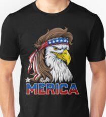 Eagle Mullet-T-Shirt 4. der Juli-amerikanischen Flagge Merica USA Slim Fit T-Shirt