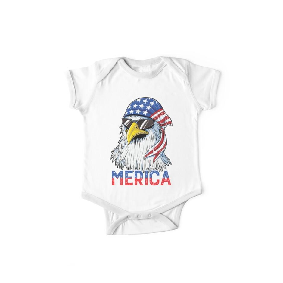 Baby Short-Sleeve Onesies Eagle England Flag Bodysuit Baby Outfits