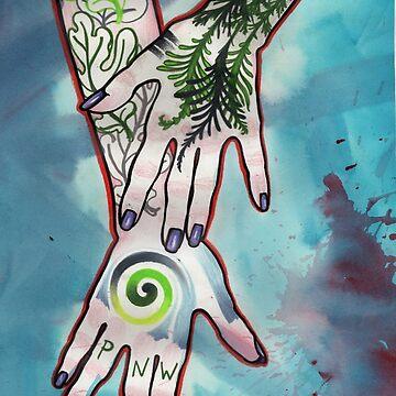 pnw tattooed hands by resonanteye
