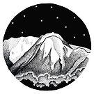 Mount Buller in Pen and Ink by Jarrod Hall Art