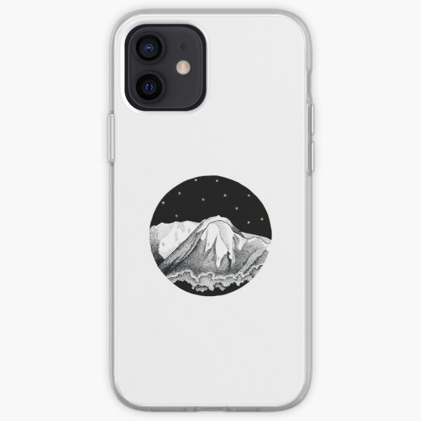 Mount Buller in Pen and Ink iPhone Soft Case
