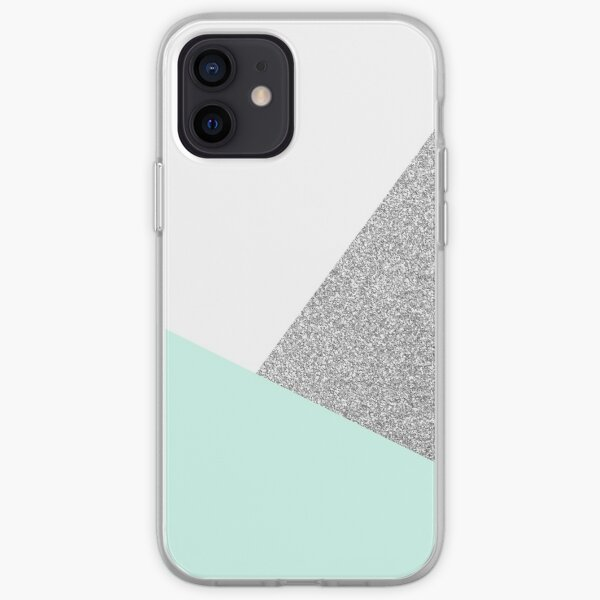 Teal and silver iPhone Soft Case