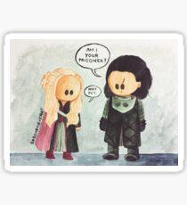 Jonerys Snowstorm Am I Your Prisoner? Sticker