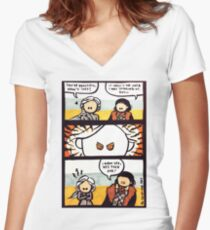 Jonerys Snowstorm Comic Strip Women's Fitted V-Neck T-Shirt