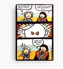 Jonerys Snowstorm Comic Strip Canvas Print