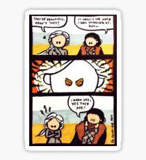 Jonerys Snowstorm Comic Strip Sticker