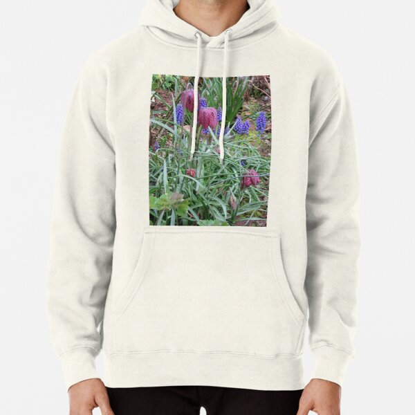 Muscari and Fritillary Pullover Hoodie