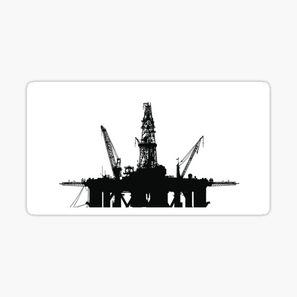 2 DRILL OIL FIELD DECAL Stickers For Car Window Bumper Laptop Truck Jeep