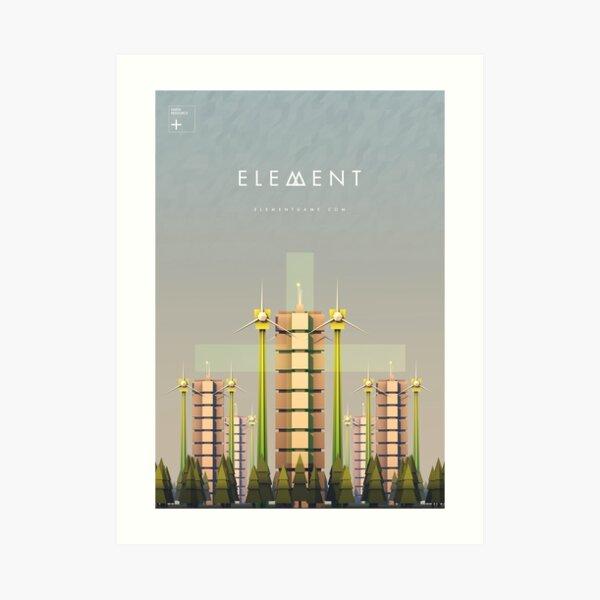 Element Earth Resource Unit Artwork Art Print