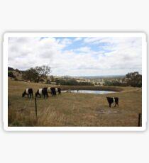 Country Victoria Farm Landscape Sticker