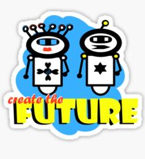 create the future-robot Sticker