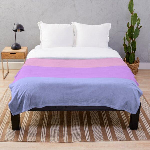 Pastel Bisexual Flag Throw Blanket