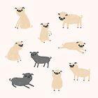 Pug Pattern  by Sophie Corrigan