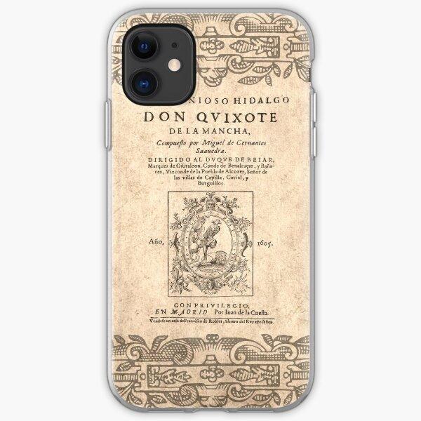 Cervantes, Don Quijote de la Mancha 1605 Funda blanda para iPhone