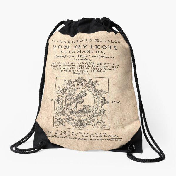 Cervantes, Don Quijote de la Mancha 1605 Mochila saco