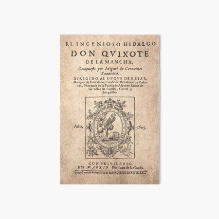 Cervantes, Don Quijote de la Mancha 1605 Lámina rígida