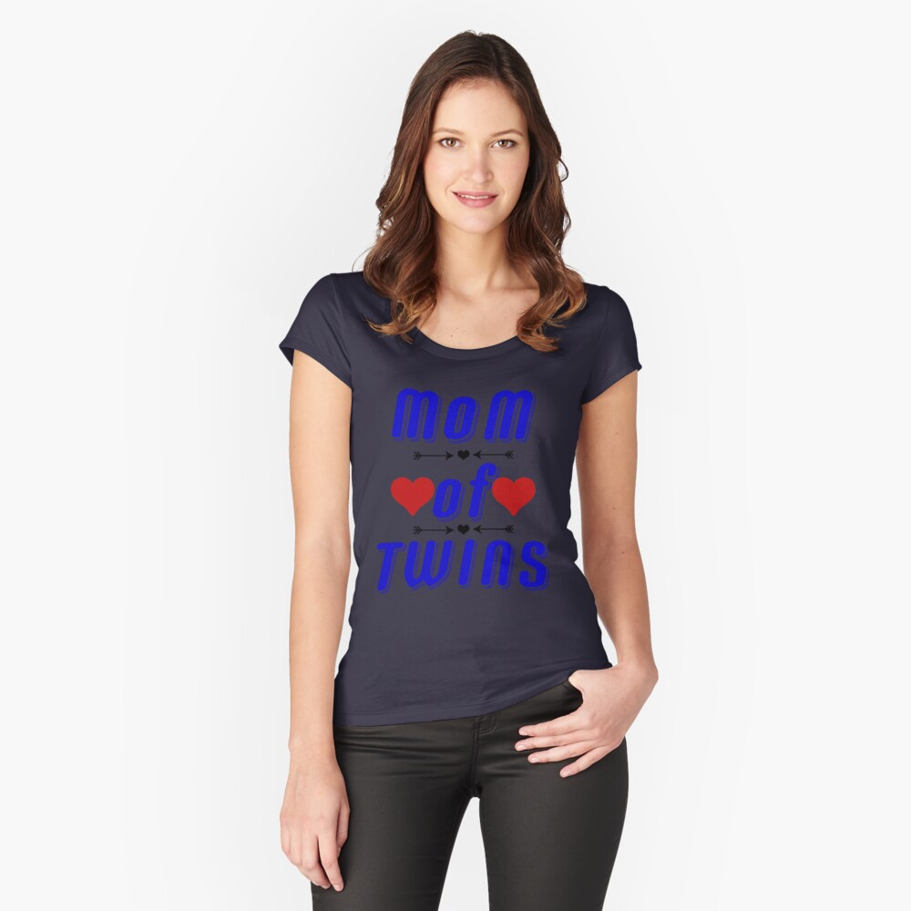 Mom Of Twins Shirt-Tees For Mothers Fitted Scoop T-Shirt