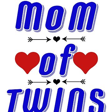 Mom Of Twins Shirt-Tees For Mothers by EllenDaisyShop